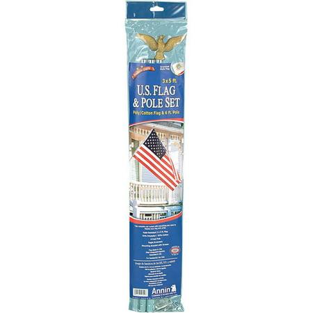 Annin #011320R 3x5 Poly US Flag Kit