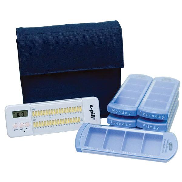 7 Day Medication Organizer System with Multi-Alarm