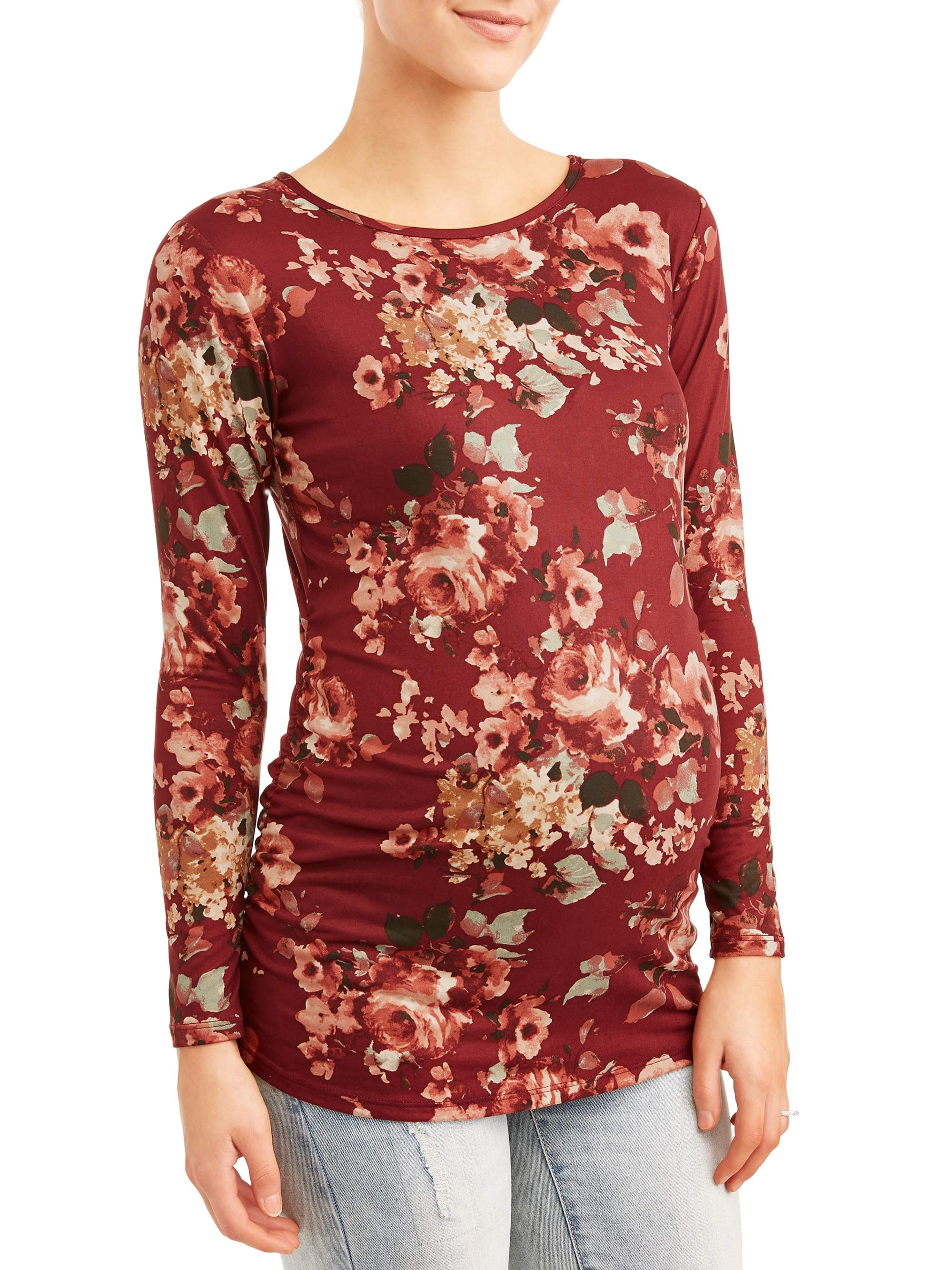 Maternity Long Sleeve Floral Tee