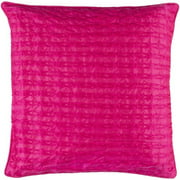 """20"""" Decorative Hot Pink Quilted Linens Throw Pillow"""