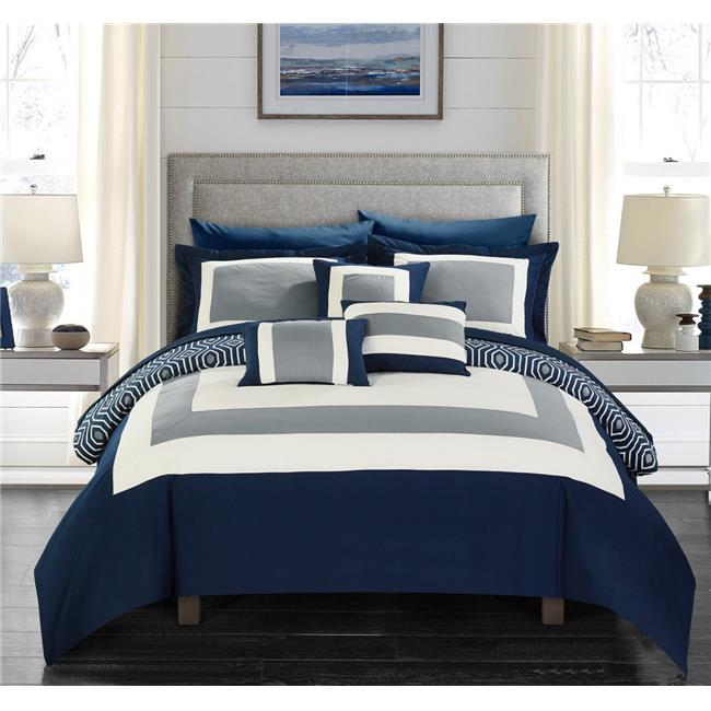 Chic Home Cs4465 Us Reversible Hotel Collection Queen Size Bed In
