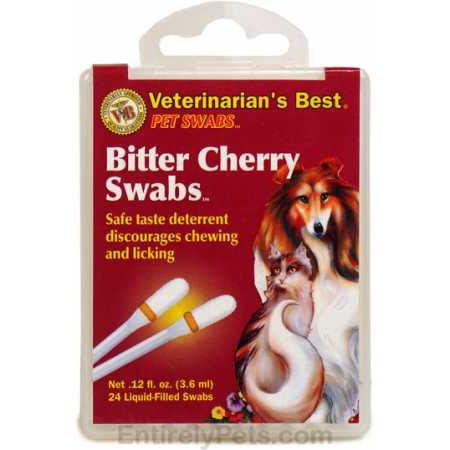 Pet Swabs  Bitter Cherry Swabs_LQ (Veterinarian's Best Bitter Cherry Spray)