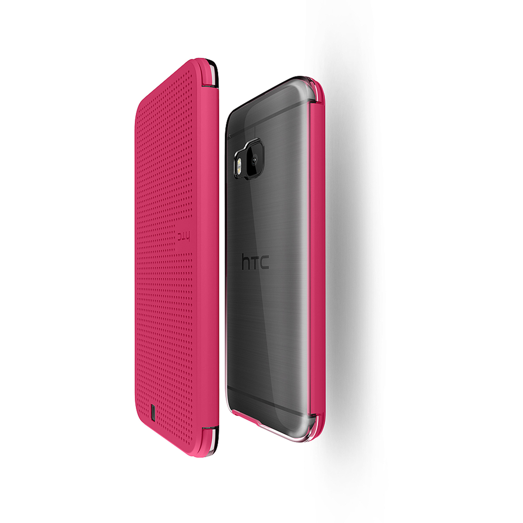 HTC Dot View Ice Premium Case for HTC One M9, Candy Floss by HTC