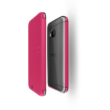 HTC Dot View Ice Premium Case for HTC One M9, Candy (Htc One E9 Vs Htc One M9)