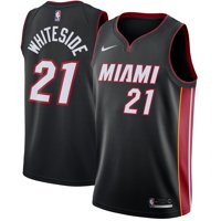 Hassan Whiteside Miami Heat Nike Swingman Jersey Black - Icon Edition