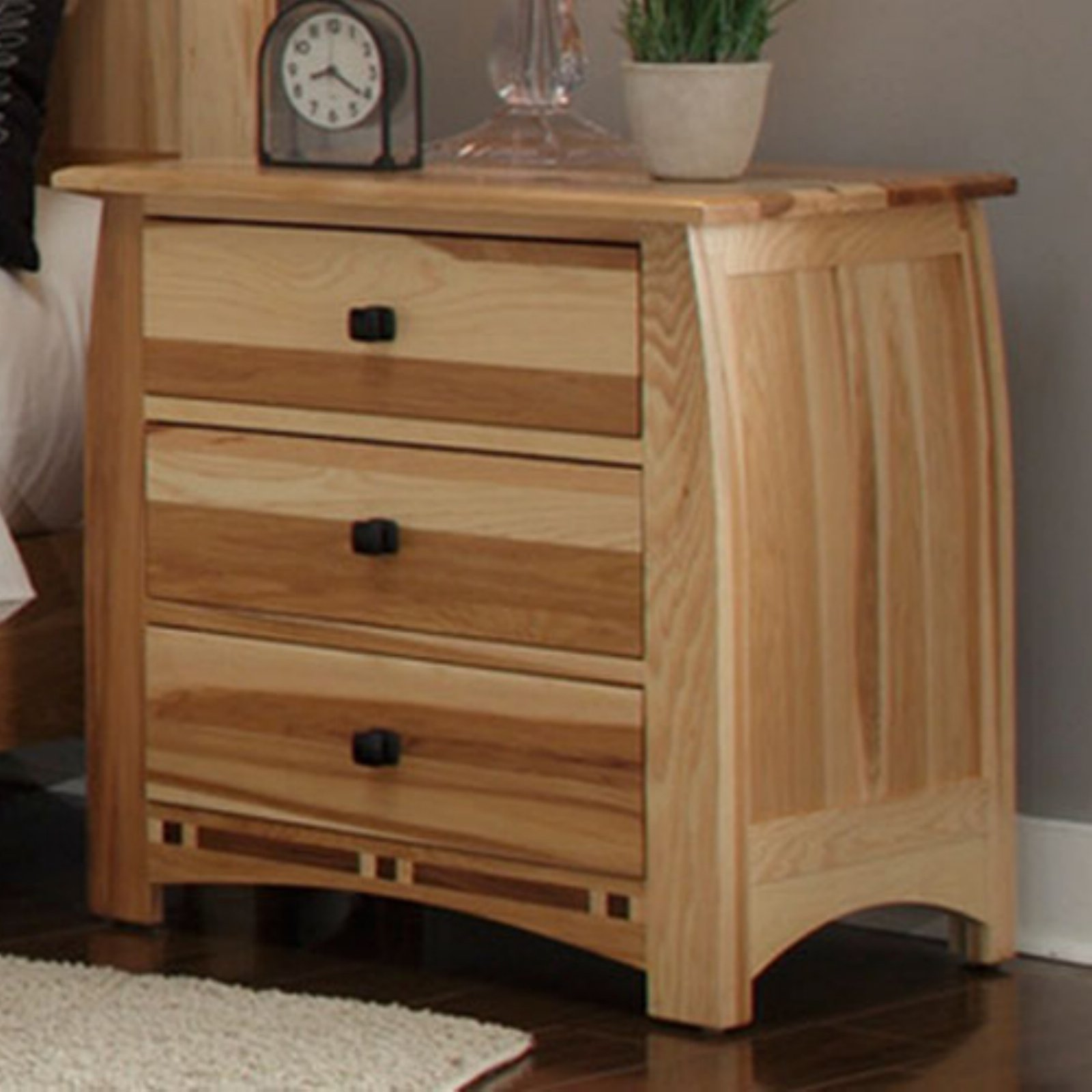 A-America Adamstown 3 Drawer Nightstand