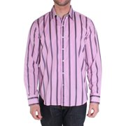Robert Graham XS151008TF Otter Rock Long Sleeve Shirt Medium Raspberry Rose
