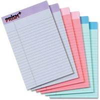 TOPS Prism+ Writing Pads, Jr. Legal Rule, 50 Sheets, Assorted, (63016)
