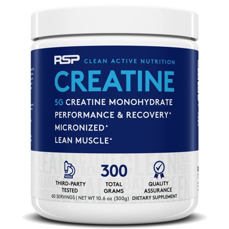 RSP Nutrition Creatine Monohydrate, Pure Micronized Powder, Increased Strength, Muscle Recovery & Performance, (Best Creatine Monohydrate Product)