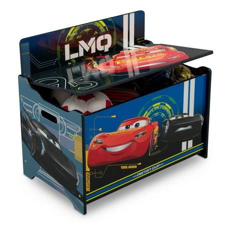 Disney Pixar Cars Deluxe Wood Toy Box by Delta Children