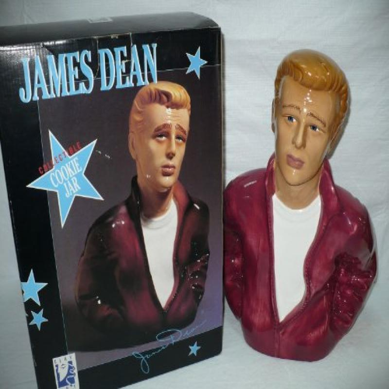 "1996 Clay Art James Dean 14.5"" Cookie Jar"