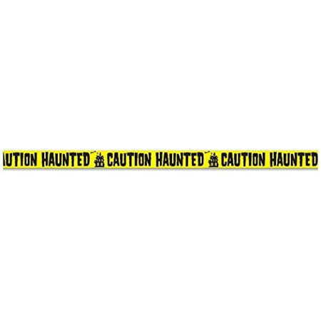 Caution Haunted Party Tape 3 In. X 20 Ft. Halloween Party Accessory (1 Count) (1/pkg) Pkg/3 (Halloween Parties In Detroit 2017)