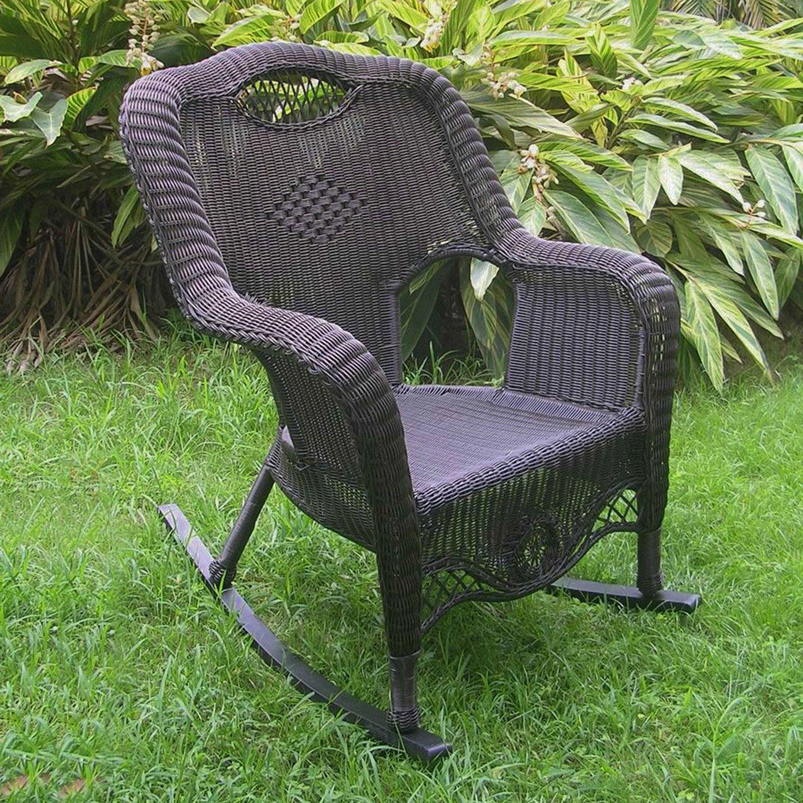 International Caravan Maui Resin Wicker Outdoor Rocking Chair