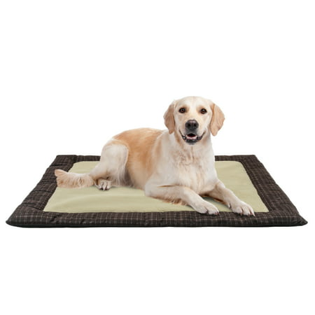 Holiday Time Ultra Plush Dog Nap Mat, 37u0022x42u0022, Brown