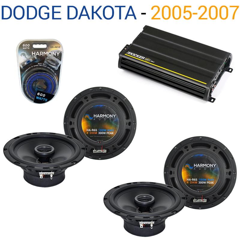 Dodge Dakota 2005-2007 Factory Speaker Replacement Harmony (2)R65 & CX300.4 Amp - Factory Certified Refurbished
