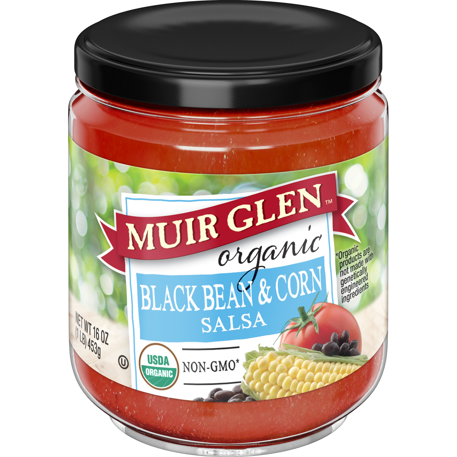 Muir Glen Organic Medium Black Bean and Corn Salsa, 16 oz