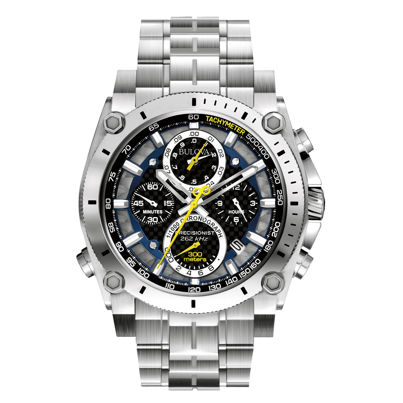 Men's Precisionist 96B175 Silver Stainless-Steel Quartz Watch
