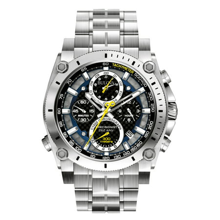 Men's Precisionist 96B175 Silver Stainless-Steel Quartz (Bulova Bracelet Collection Mens Watch)