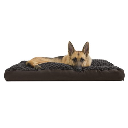 FurHaven Pet Dog Bed | Deluxe Plush Pillow Pet Bed for Dogs & Cats, Chocolate, Extra Large