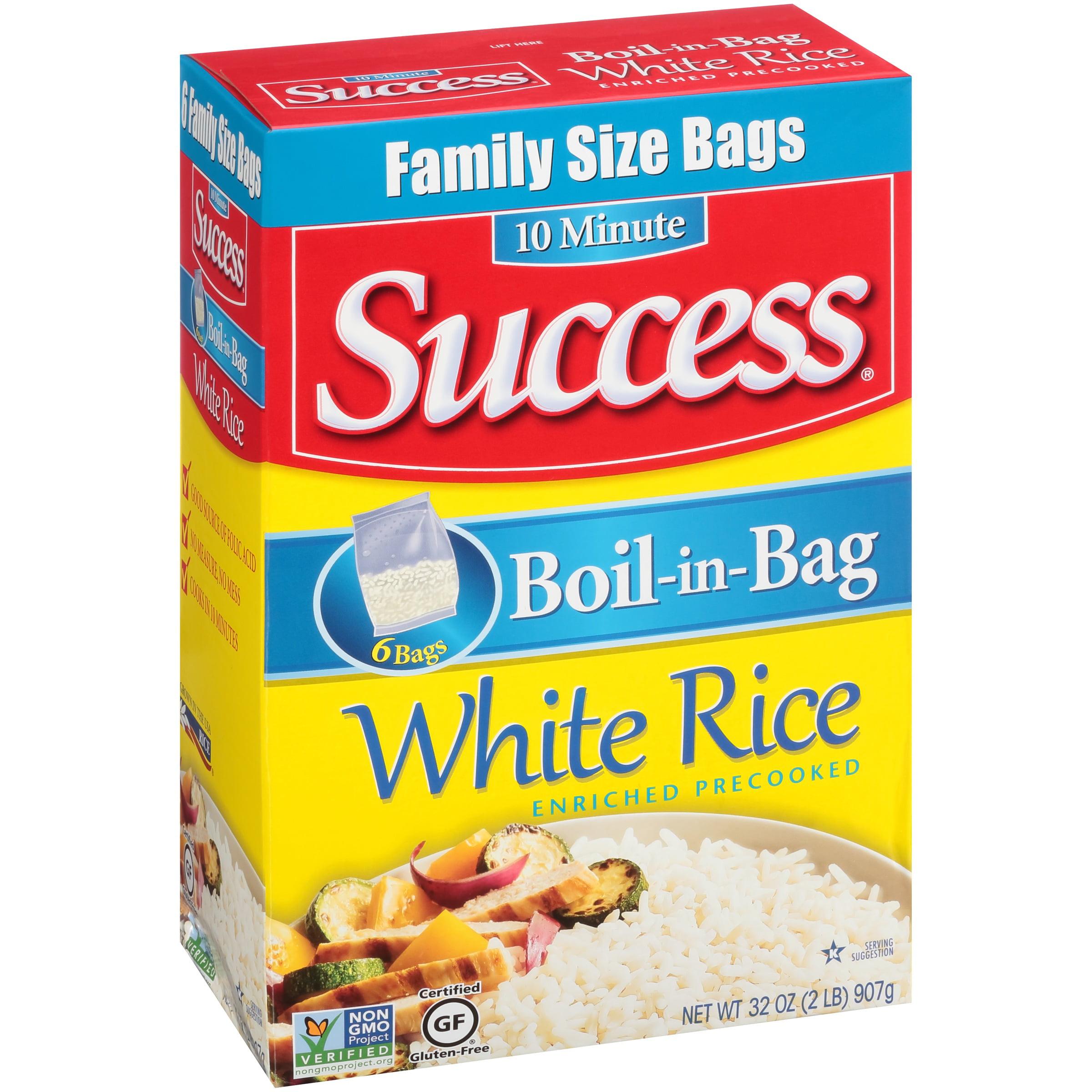 Success Boil-In-Bag White 6 Ct Rice 32 Oz Box