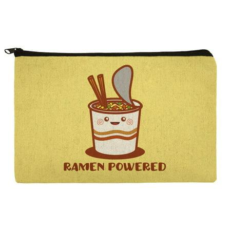 Ramen Powered Noodle Soup Chopsticks Makeup Cosmetic Bag Organizer (Best Way To Make Ramen Noodles)