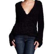 NEW Black Women's Size Small S Textured V-Neck Sweater $148