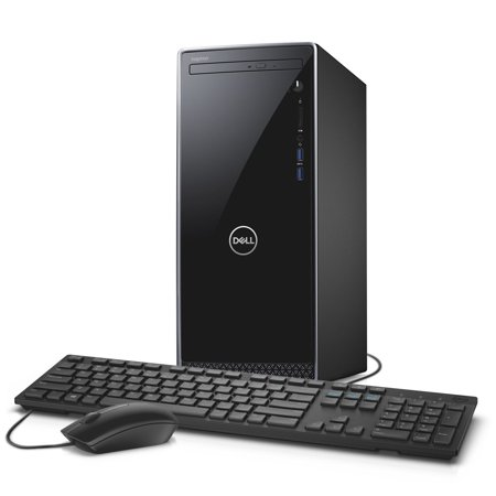 Dell Inspiron 3670 Intel Core i3-9100 X4 4.2GHz 8GB 1TB Win10, Glossy Black  (Certified Refurbished)