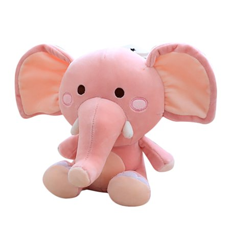 Mosunx Cute Elephant Baby Cuddle Plush Stuffed Animal Toys Kawaii Stress Reliever Toy
