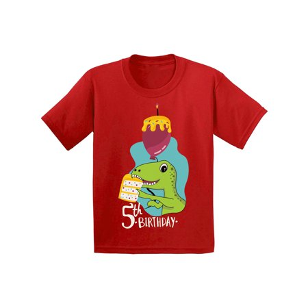 Awkward Styles Dinosaur Birthday Shirt For 5 Year Old 5th Party Gifts Kids Themed Boy