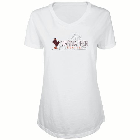 Women's Russell White Virginia Tech Hokies Tunic Metallic Cap Sleeve V-Neck T-Shirt](Virginia Tech Halloween 2017)
