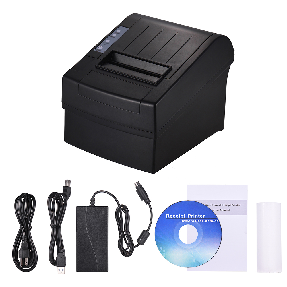 80mm Wireless Wifi Thermal Receipt Printer Compatible with ESC/POS Commands Bill Ticket High Speed Printing Auto Cutter USB Ethernet Port for iOS Android Windows