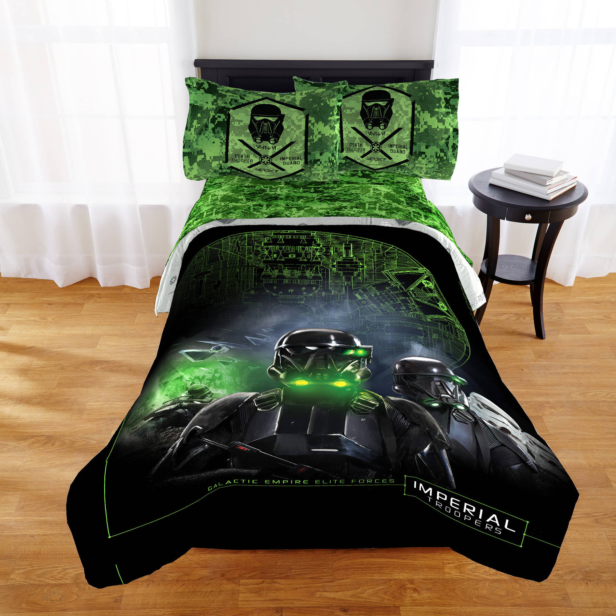 Star Wars Boys Kids Rogue One Twin Comforter & Sheet Set (4 Piece