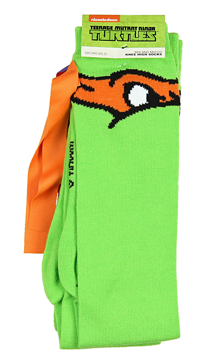86bb76660 Real Deal Sales LLC - Teenage Mutant Ninja Turtles Mix And Match 4 Pack Knee  High Socks - Walmart.com