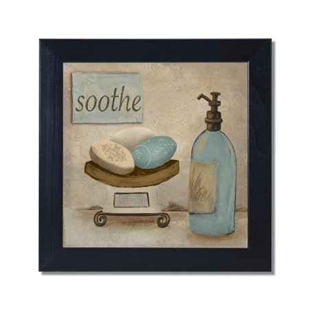 soothe spa bathroom black framed art print poster 12x12. Black Bedroom Furniture Sets. Home Design Ideas