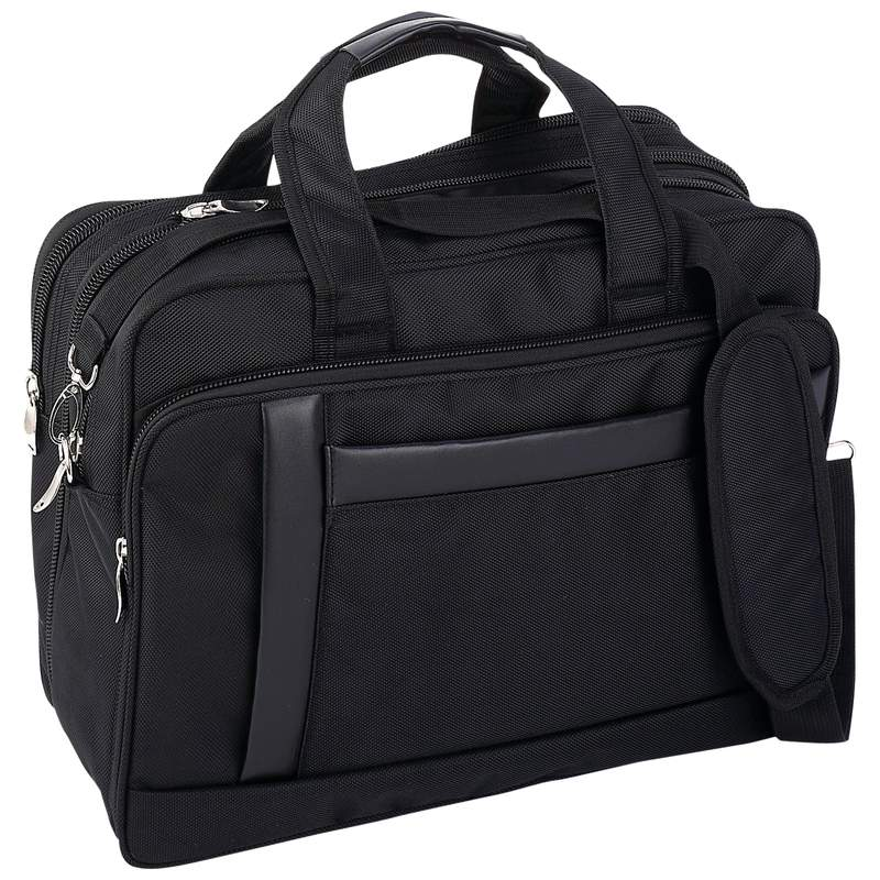 "Maxam® Nylon Expandable 16"" Briefcase/Computer Bag"