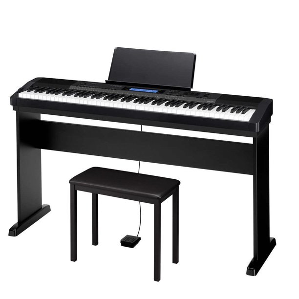 Casio CDP-235R 88 Key Digital Piano Bundle with Sustain Pedal, Wood Stand and Padded Bench