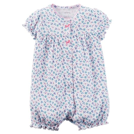 eb38fc319 Carters Baby Clothing Outfit Girls Snap-Up ed Cotton Romper Bird ...