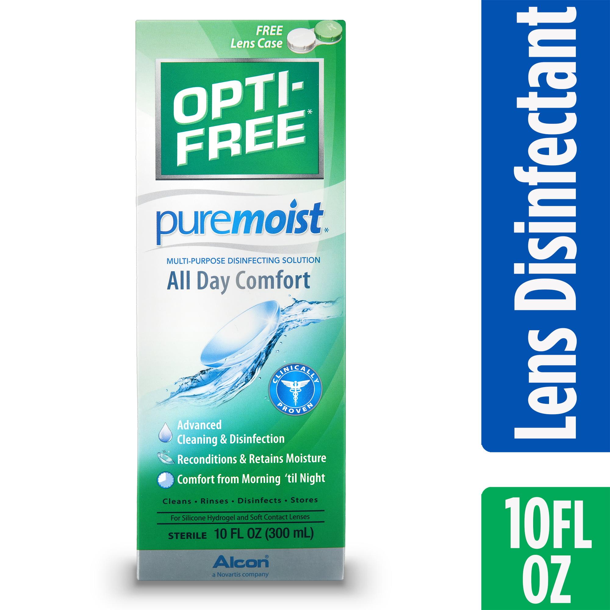 OPTI-FREE Puremoist Multipurpose Contact Lens Disinfecting Solution, 10 Fl. Oz.