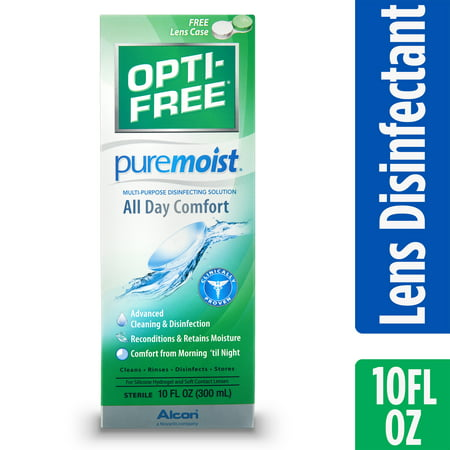 OPTI-FREE Puremoist Multipurpose Contact Lens Disinfecting Solution, 10 Fl. Oz. (Vampire Contact Lenses)