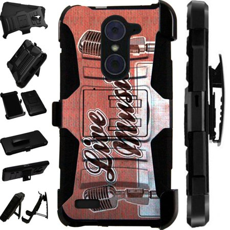 For Alcatel 7 Folio | T-Mobile Revvl 2 Plus Case Armor Hybrid Silicone Phone Cover Stand LuxGuard Holster (Live (Best Mobile Phone For Music)