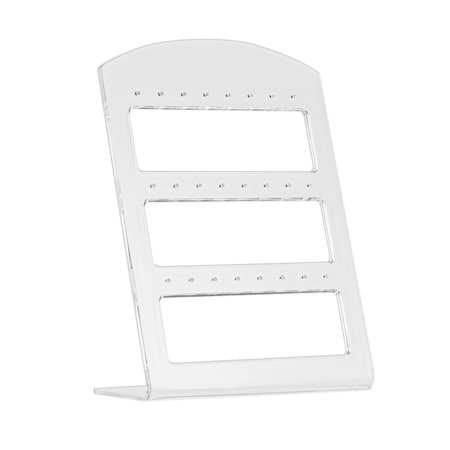 (24 Holes Earring Jewelry Show Plastic Display Rack Stand Organizer Holder)