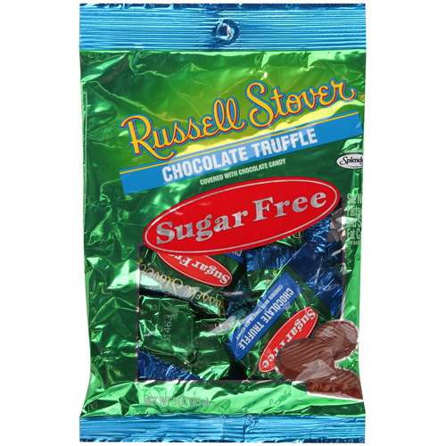 Russell Stover Sugar Free Chocolate Truffle Chocolate Candy, 3.0 OZ