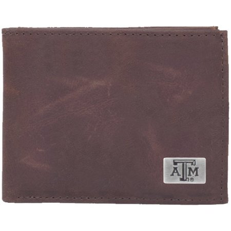 Texas Concho (Texas A&M Aggies Leather Billfold with Concho - Brown - No Size)