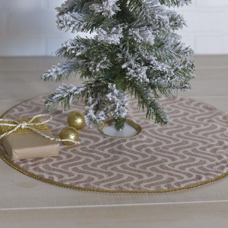 Mauve Purple Glam Christmas Decor Magdalene Cotton Chevron 21