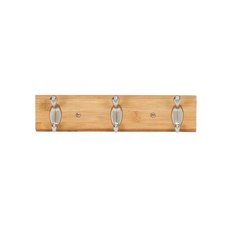 Household Essentials Wall Decor Bamboo 3 Hooks