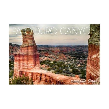 Amarillo, Texas - Palo Duro Canyon - Lighthouse Print Wall Art By Lantern Press ()
