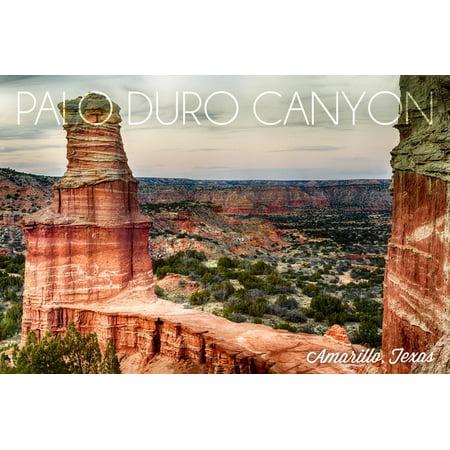 Amarillo, Texas - Palo Duro Canyon - Lighthouse Print Wall Art By Lantern -