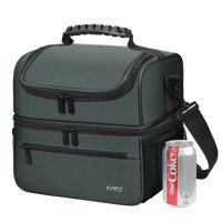Kato Large Adult Insulated Lunch Bag Totes Cooler Container Double Compartment