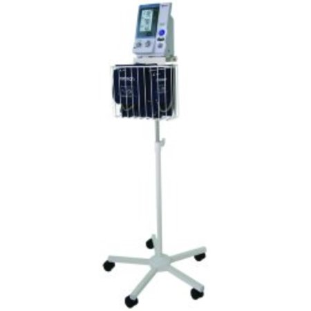 Blood Pressure Monitor Cart Intellisense  Stainless Steel 22 1 2 X 22