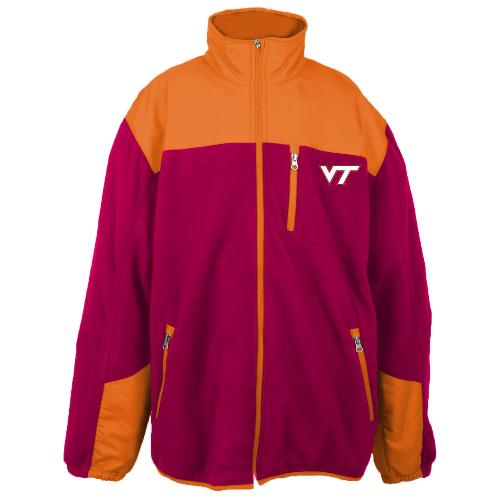Virginia Tech Hokies NCAA Poly Dobby Full Zip Polar Fleece Jacket by Genuine Stuff